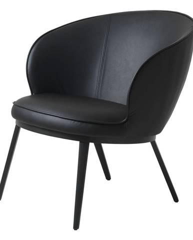 Černé křeslo z imitace kůže Unique Furniture Gain