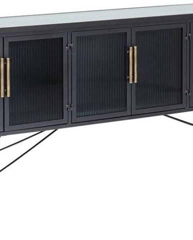 Černá komoda Kare Design La Gomera, šířka 180cm