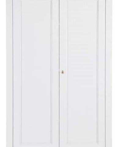 Bílá skříň z borovicového dřeva WOOOD Isabel