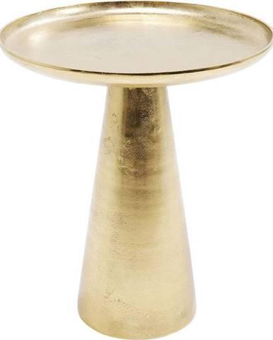 Odkládací stolek ve zlaté barvě Kare Design Plateau Uno, ø 45 cm