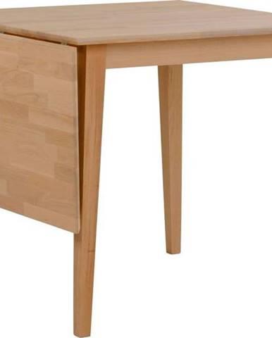 Přírodní sklápěcí dubový jídelní stůl Rowico Mimi, 80 x 80cm