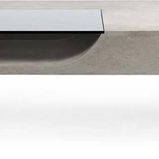 Konferenční stolek s betonovou deskou Lyon Béton Curb, 125 x 56 cm