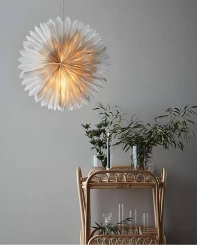 Šedá vánoční závěsná světelná dekorace Markslöjd Solina,výška60cm