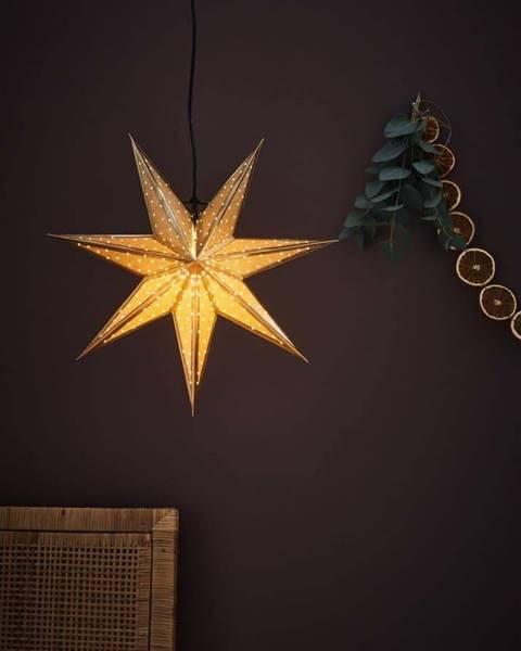 Markslöjd Vánoční závěsná dekorace ve zlaté barvě Markslöjd Glitter,délka45cm