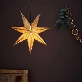 Vánoční závěsná dekorace ve zlaté barvě Markslöjd Glitter,délka45cm