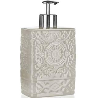 Dávkovač mýdla keram. 9x6 x17 cm šedo-béžový 42100526