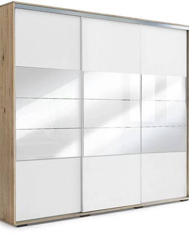 Skříň Milena A26 250 Zrcadlo Craft Zlatý/Bílý