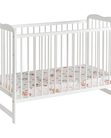Dětská Postýlka Ala Ii + Materace Bílý