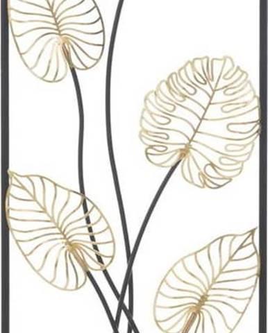 Kovová závěsná dekorace se vzorem listů MauroFerretti Luxy-B-, 31x90cm