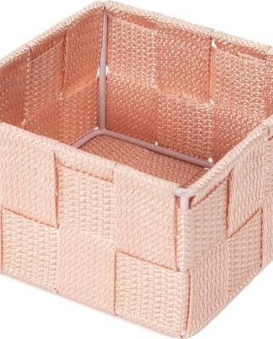 Růžový koupelnový organizér Compactor Stan,12x12cm
