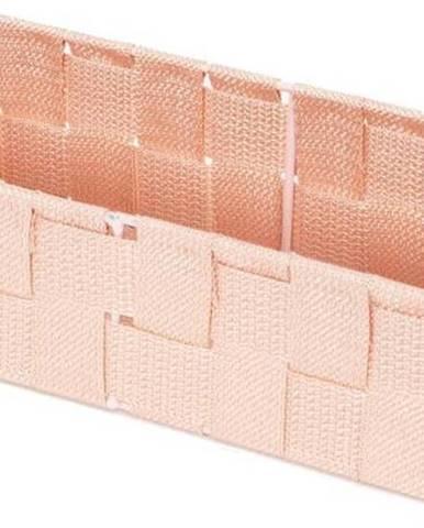 Růžový koupelnový organizér Compactor Stan,30x12cm