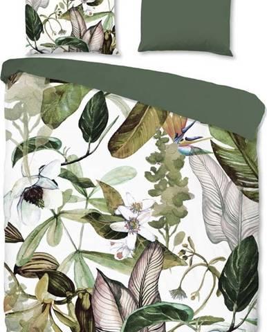 Flanelové povlečení na dvoulůžko Good Morning Flora, 200 x 220 cm