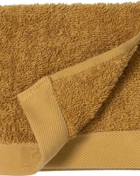 Södahl Žlutý ručník z froté bavlny Södahl Golden, 30 x 30 cm