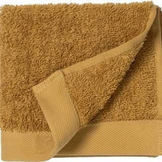 Žlutý ručník z froté bavlny Södahl Golden, 30 x 30 cm