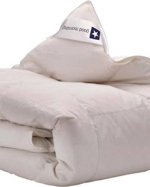 GOOD MORNING Bílá přikrývka s výplní z kachního peří a prachového peří Good Morning Premium,155x220cm