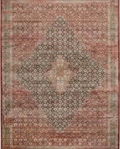 Červený koberec z viskózy Universal Rust, 140 x 200 cm