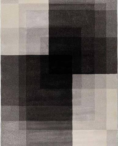 Šedo-černý koberec Flair Rugs Plaza, 160 x 230 cm
