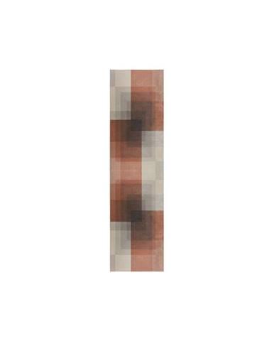 Šedo-růžový koberec Flair Rugs Plaza, 60 x 230 cm