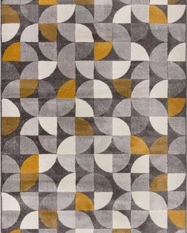 Šedo-žlutý koberec Flair Rugs Alcazar, 200 x 290 cm
