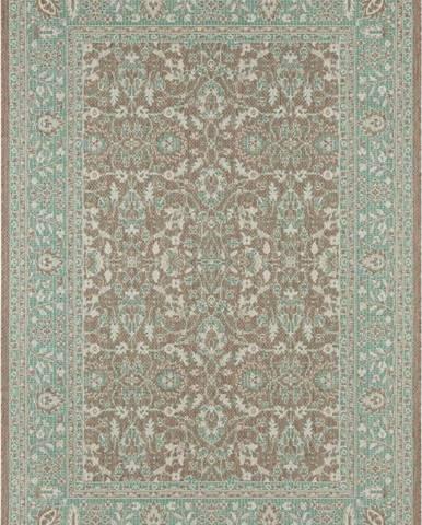 Zeleno-hnědý venkovní koberec Bougari Konya, 200 x 290 cm