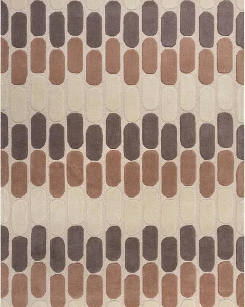 Flair Rugs Hnědo-béžový vlněný koberec Flair Rugs Fossil, 120 x 170 cm