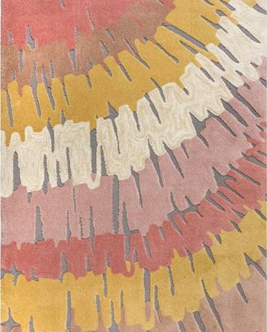 Růžovo-žlutý koberec Flair Rugs Woodgrain, 120 x 170 cm
