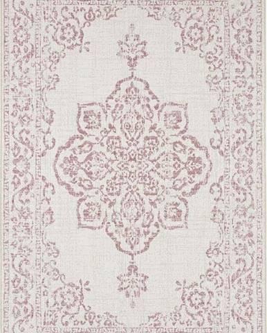 Červeno-krémový venkovní koberec Bougari Tilos, 200 x 290 cm
