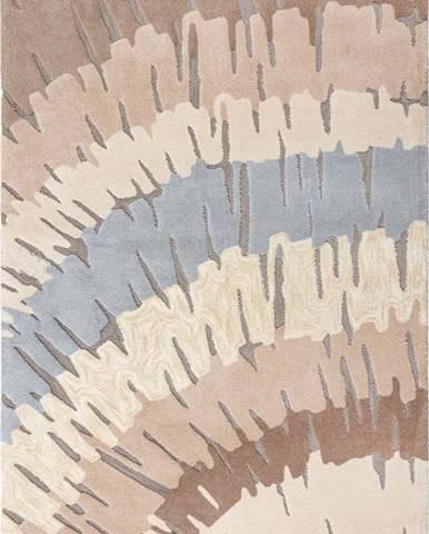 Hnědo-béžový koberec Flair Rugs Woodgrain, 160 x 230 cm