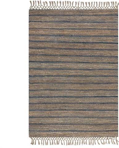 Modrý jutový koberec Flair Rugs Equinox, 160 x 230 cm