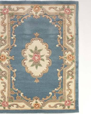 Modrý vlněný koberec Flair Rugs Aubusson, 120x180cm