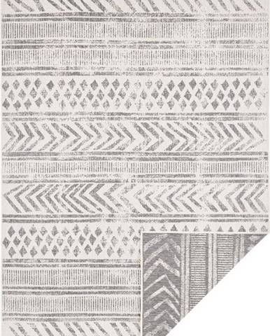 Šedo-krémový venkovní koberec Bougari Biri, 160 x 230 cm