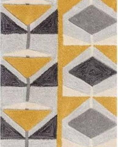 Šedo-žlutý běhoun Flair Rugs Kodiac, 60 x 230 cm