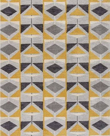 Šedo-žlutý koberec Flair Rugs Kodiac, 160 x 230 cm