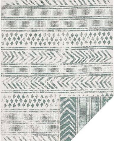Zeleno-krémový venkovní koberec Bougari Biri, 120 x 170 cm