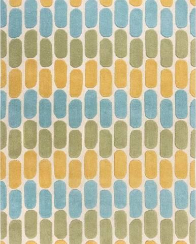 Žluto-zelený vlněný koberec Flair Rugs Fossil, 200 x 290 cm