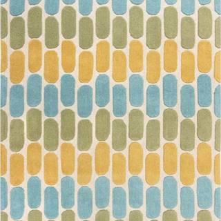 Žluto-zelený vlněný koberec Flair Rugs Fossil, 120 x 170 cm