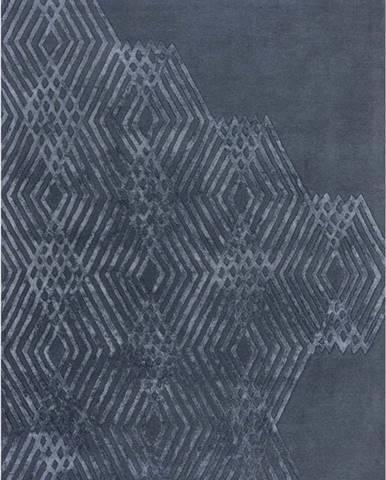 Modrý vlněný koberec Flair Rugs Diamonds, 120 x 170cm