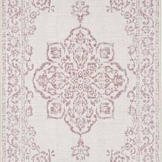 Červeno-krémový venkovní koberec Bougari Tilos, 80 x 150 cm