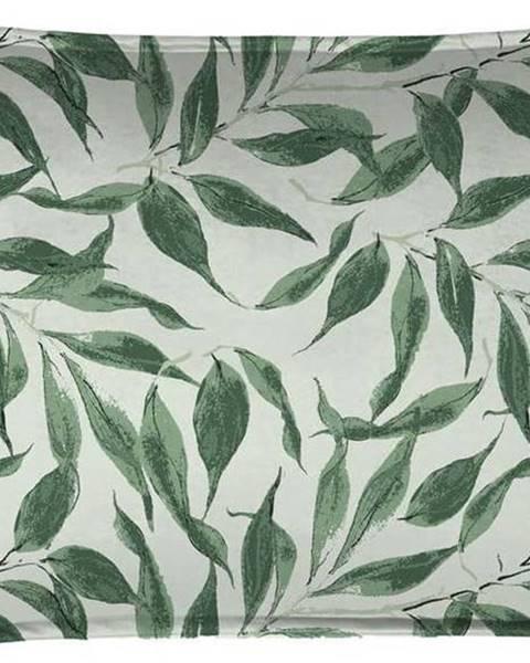 Velvet Atelier Zelený dekorativní polštář Velvet Atelier Sage Leaf, 50 x 35 cm