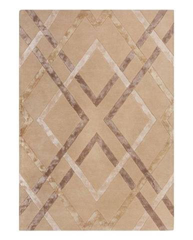 Béžový viskózový koberec Flair Rugs Trellis, 120 x 170 cm