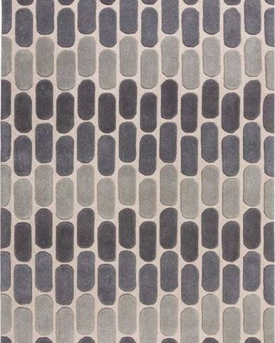 Šedý vlněný koberec Flair Rugs Fossil, 200 x 290 cm