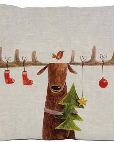 Vánoční polštář Little Nice Things Reindeer, 35 x 50 cm