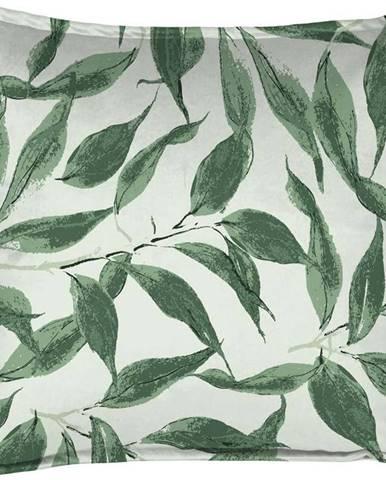 Zelený dekorativní polštář Velvet Atelier Sage Leaf, 45 x 45 cm