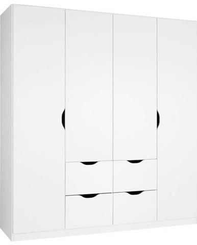 Šatní Skříň S Otočnými Dveřmi White, Bílá