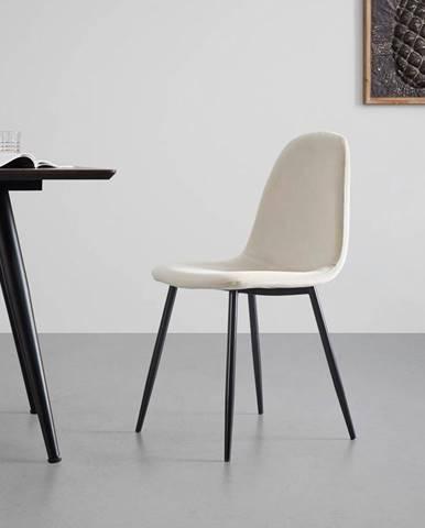 Sametová Židle Lio Béžová