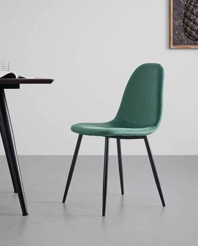 Sametová Židle Lio Zelená