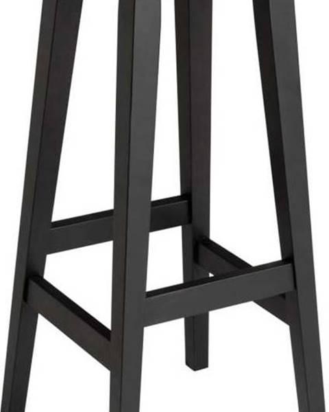 Rowico Černá barová stolička z dubového dřeva Rowico Frigg