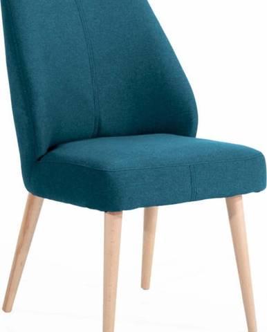 Modrá čalouněná židle Max Winzer Todd