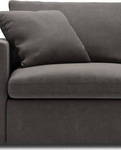 Tmavě hnědá rohová část modulární pohovky Windsor & Co Sofas Galaxy, levý roh