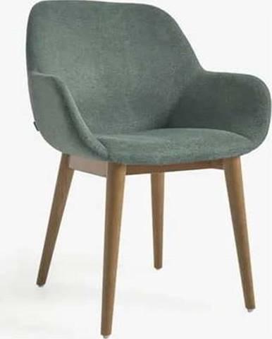 Zelená jídelní židle La Forma Konna
